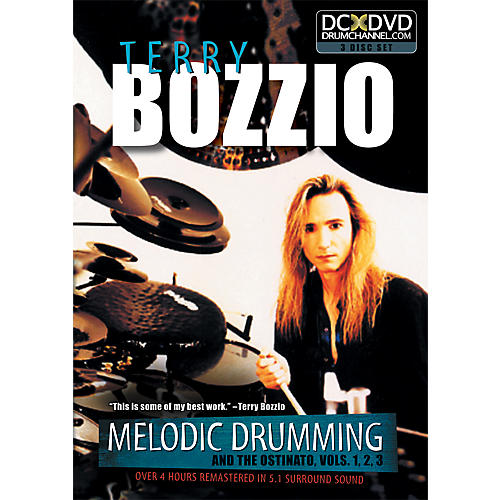 The Drum Channel Terry Bozzio - Melodic Drumming and the Ostinato Vol. 1, 2, 3   3 DVD SET-thumbnail