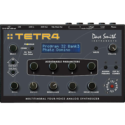 Dave Smith Instruments Tetra Multitimbral Four-Voice Analog Synthesizer-thumbnail