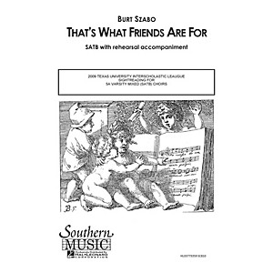 Southern Thats What Friends Are For SATB by Dionne Warwick Arranged by Bur... by Southern