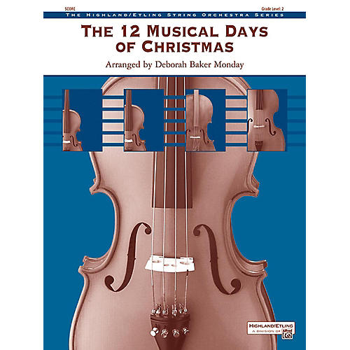 Alfred The 12 Musical Days of Christmas String Orchestra Grade 2-thumbnail