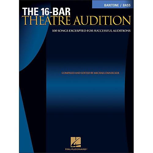 Hal Leonard The 16-Bar Theatre Audition for Baritone / Bass Voice-thumbnail