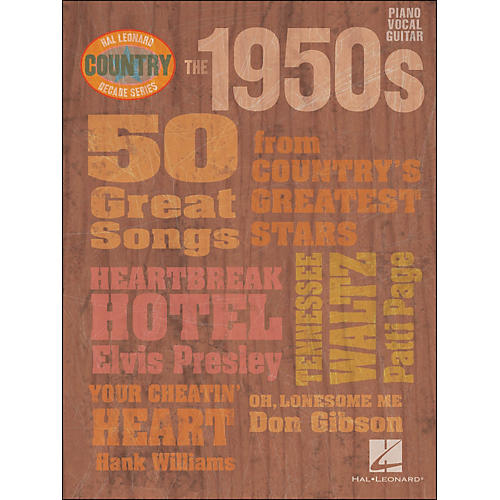 Hal Leonard The 1950s Country Decade Series arranged for piano, vocal, and guitar (P/V/G)-thumbnail