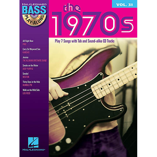 Hal Leonard The 1970s (Bass Play-Along Volume 31) Bass Play-Along Series Softcover with CD Performed by Various