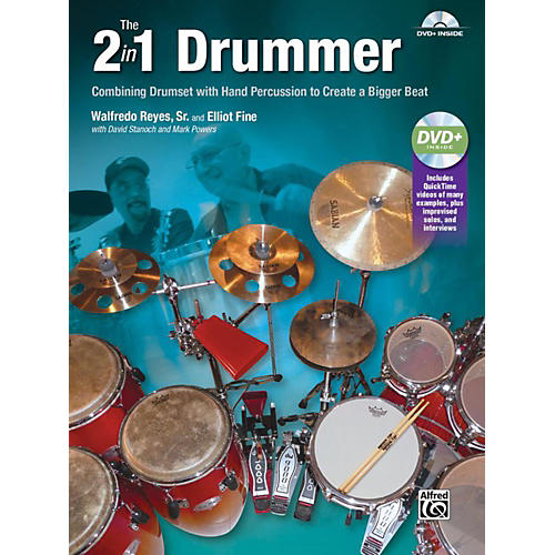 Alfred The 2-in-1 Drummer by Walfredo Reyes Sr Book & DVD-thumbnail