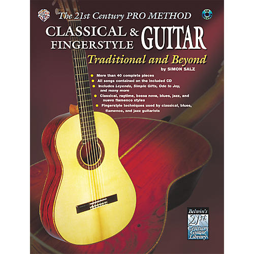 Alfred The 21st Century Pro Method: Classical & Fingerstyle Guitar Traditional & Beyond Book with CD-thumbnail