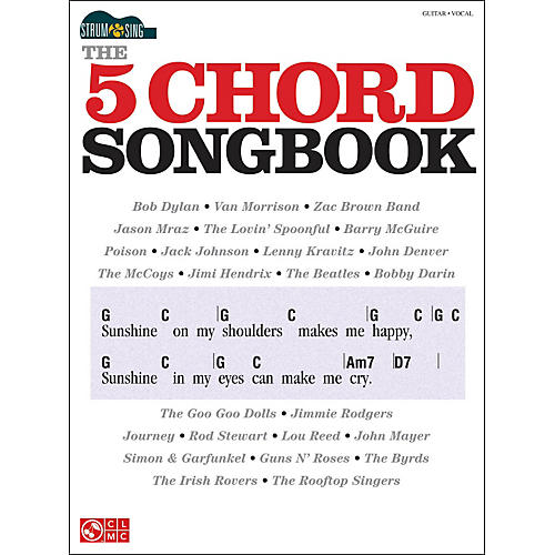 Cherry Lane The 5 Chord Songbook - Strum & Sing Series-thumbnail