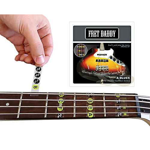 Fret Daddy The A Blues Scale for Bass Guitar-thumbnail