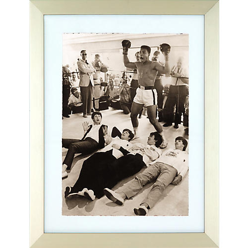 Hulton Archive The Beatles A Hard Day's Fight Black and White Framed Print