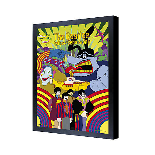 Ace Framing The Beatles Yellow Submarine 3D Framed Poster-thumbnail
