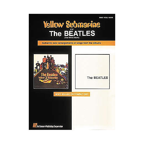 Hal Leonard The Beatles Yellow Submarine & The White Album Piano, Vocal, Guitar Songbook-thumbnail
