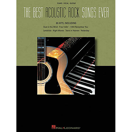 Hal Leonard The Best Acoustic Rock Songs Ever Piano, Vocal, Guitar Songbook