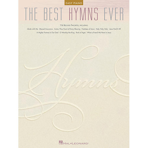 Hal Leonard The Best Hymns Ever For Easy Piano-thumbnail