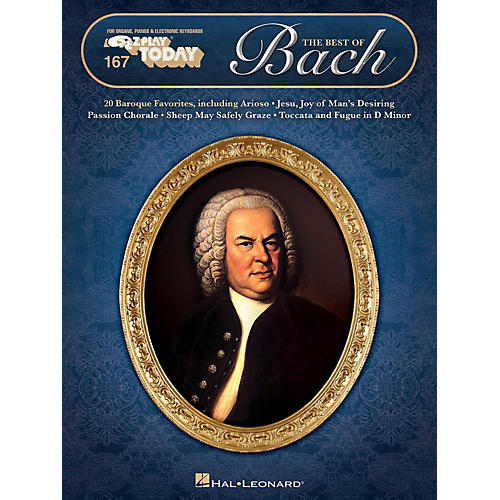 Hal Leonard The Best Of Bach E-Z Play Today Volume 167-thumbnail