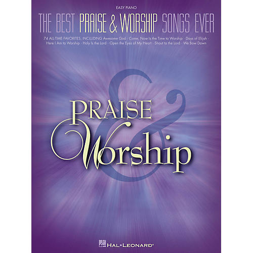 Hal Leonard The Best Praise & Worship Songs Ever For Easy Piano-thumbnail
