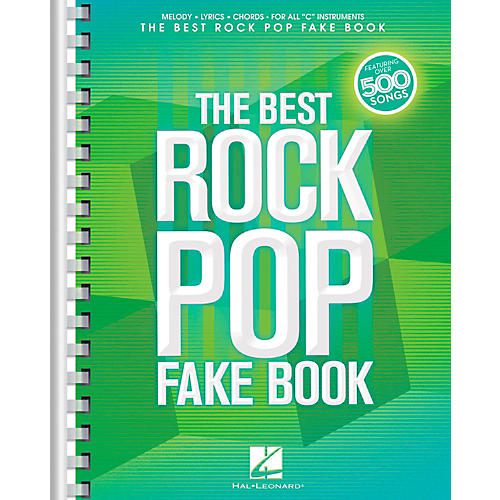 Hal Leonard The Best Rock Pop Fake Book - For C Instruments-thumbnail