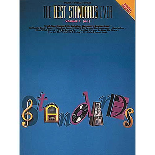 Hal Leonard The Best Standards Ever Volume 1 A-L Revised Piano, Vocal, Guitar Songbook