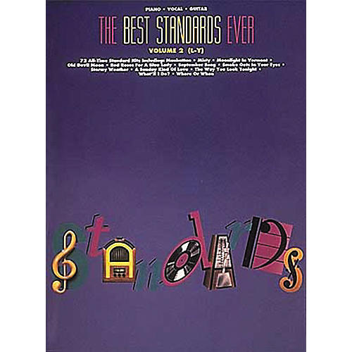 Hal Leonard The Best Standards Ever Volume 2 M-Z Revised Piano, Vocal, Guitar Songbook-thumbnail