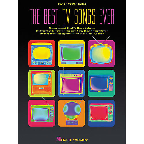 Hal Leonard The Best TV Songs Ever Piano, Vocal, Guitar Songbook