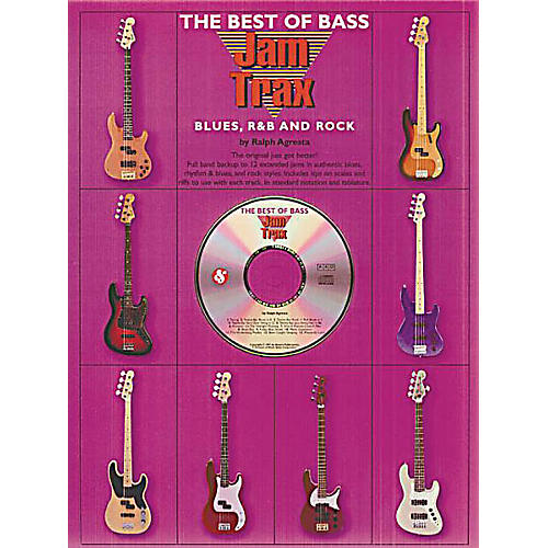 Music Sales The Best of Bass Jam Trax - Blues, R&B and Rock Music Sales America Softcover with CD by Ralph Agresta