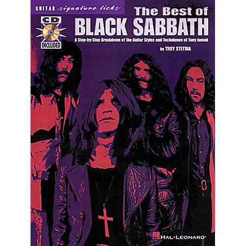 Hal Leonard The Best of Black Sabbath Signature Licks for Guitar Book with CD-thumbnail