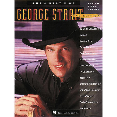 Hal Leonard The Best of George Strait Piano, Vocal, Guitar Songbook-thumbnail