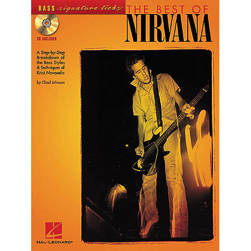 Hal Leonard The Best of Nirvana Bass (Book/CD)-thumbnail