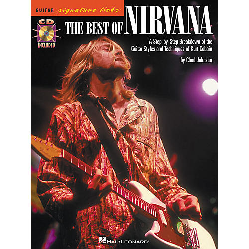 Hal Leonard The Best of Nirvana Guitar Signature Licks Book with CD-thumbnail