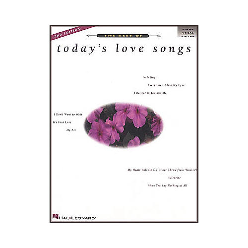 Hal Leonard The Best of Today's Love Songs 2nd Edition Piano, Vocal, Guitar Songbook-thumbnail