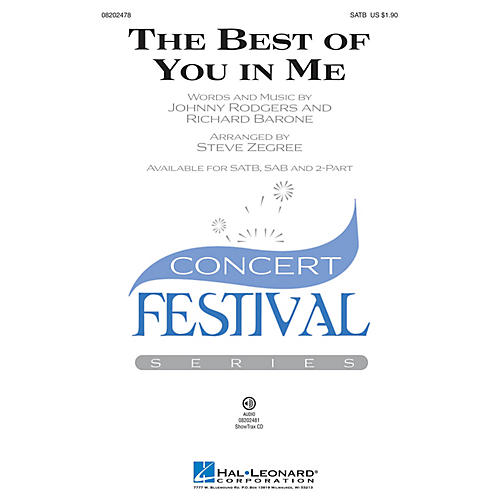Hal Leonard The Best of You in Me SATB arranged by Steve Zegree