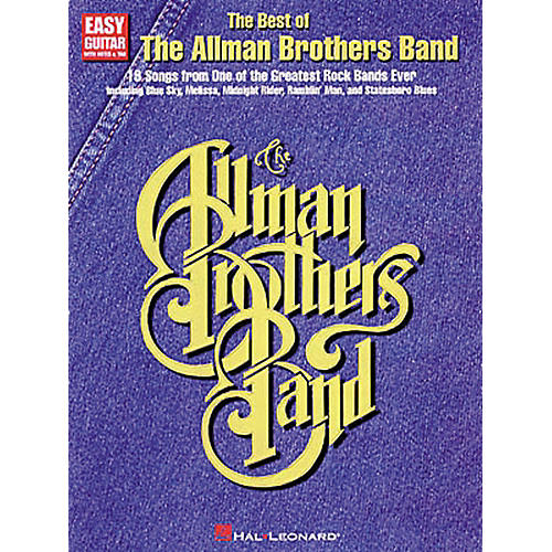 Hal Leonard The Best of the Allman Brothers Band Easy Guitar Tab Songbook-thumbnail