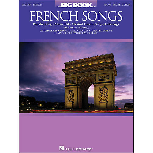 Hal Leonard The Big Book Of French Songs English/French arranged for piano, vocal, and guitar (P/V/G)-thumbnail