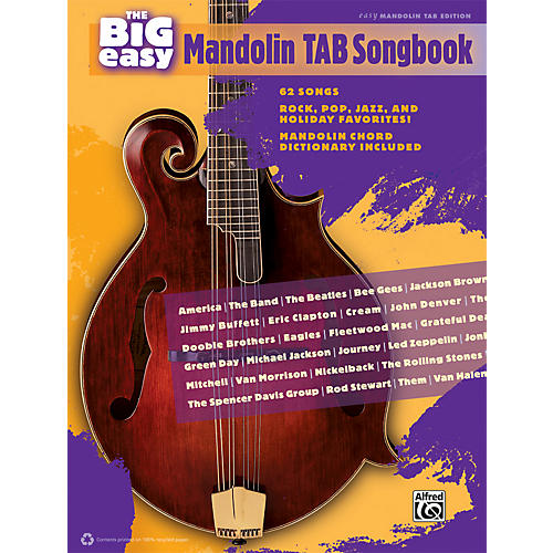 Alfred The Big Easy Mandolin TAB Songbook