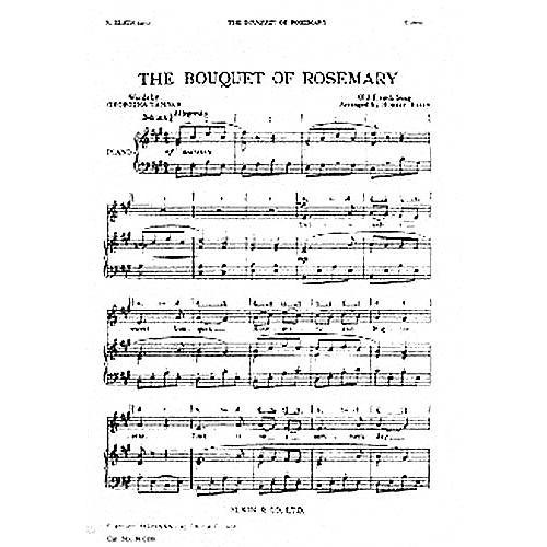 Novello The Bouquet Of Rosemary UNIS Composed by Robert Elkin