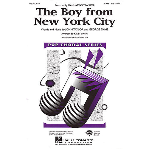 Hal Leonard The Boy from New York City Combo Parts by The Manhattan Transfer Arranged by Kirby Shaw