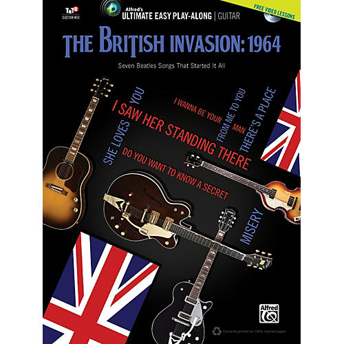 Alfred The British Invasion 1964 Ultimate Easy Guitar Play-Along (Book & DVD)-thumbnail