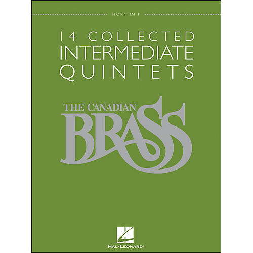 Hal Leonard The Canadian Brass: 14 Collected Intermediate Quintets Songbook - Horn-thumbnail