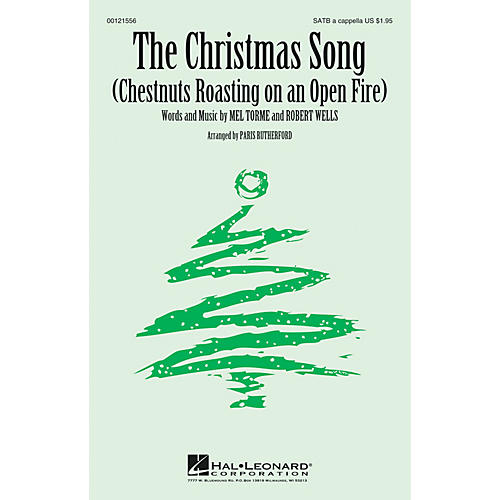 Hal Leonard The Christmas Song (Chestnuts Roasting on an Open Fire) SATB a cappella arranged by Paris Rutherford