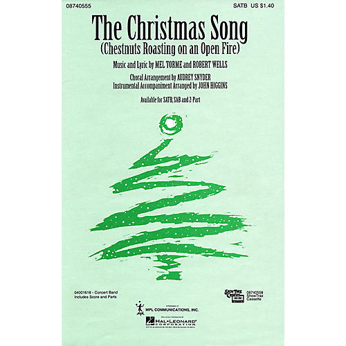 Hal Leonard The Christmas Song (SAB) SAB Arranged by Audrey Snyder
