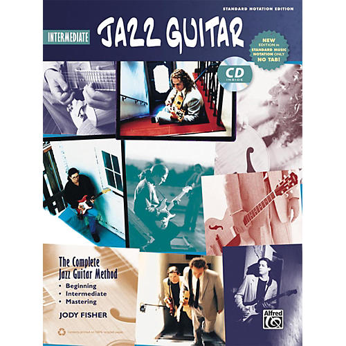 Alfred The Complete Jazz Guitar Method: Intermediate Jazz Guitar Book & CD (Standard Notation Only)-thumbnail