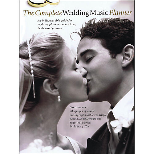 Music Sales The Complete Wedding Music Planner (Book/3-CD Pkg) arranged for piano, vocal, and guitar (P/V/G)-thumbnail