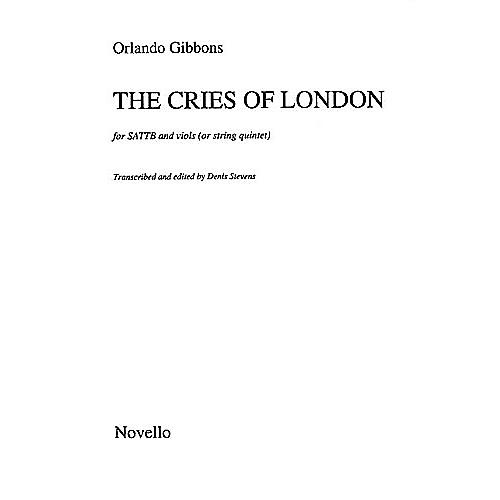 Novello The Cries of London SATTB Composed by Orlando Gibbons