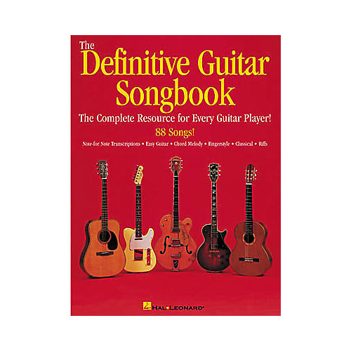 Hal Leonard The Definitive Guitar Songbook-thumbnail