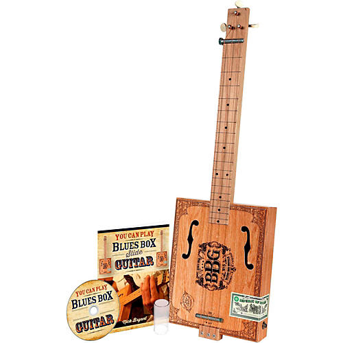 Hinkler The Electric Blues Box Slide Guitar with Guitar Slide, Instruction Book and DVD-thumbnail