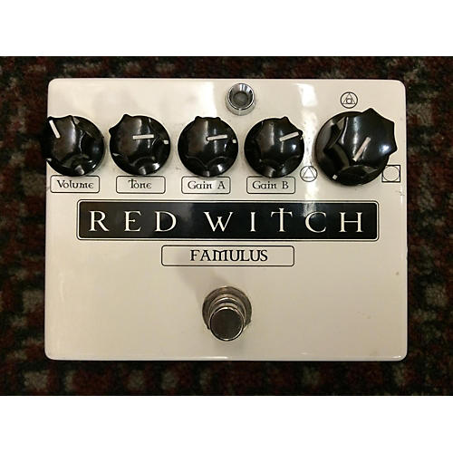 Red Witch The Famulus Distortion Overdrive Black And White Effect Pedal