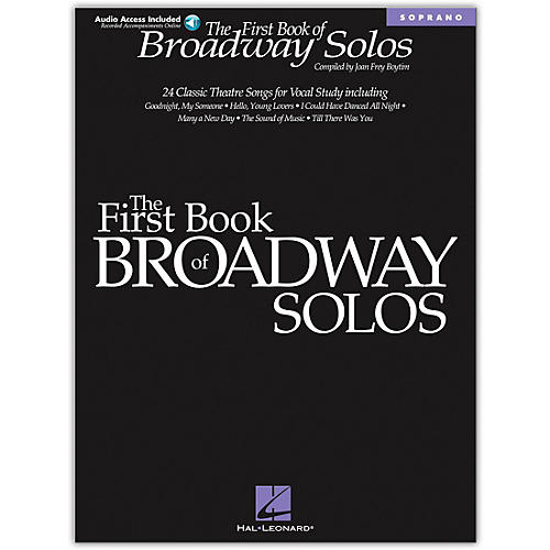 Hal Leonard The First Book of Broadway Solos (Book/Online Audio)-thumbnail