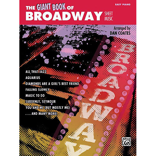 Alfred The Giant Book of Broadway Sheet Music Easy Piano Book-thumbnail