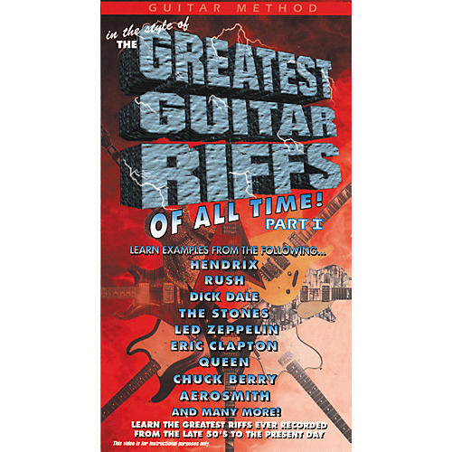 MVP The Greatest Guitar Riffs of All Time VHS-thumbnail