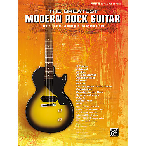 Alfred The Greatest Modern Rock Guitar Tab Songbook-thumbnail
