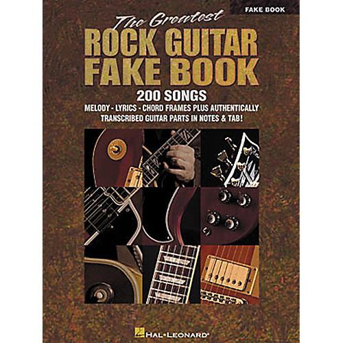 Hal Leonard The Greatest Rock Guitar Fake Book-thumbnail