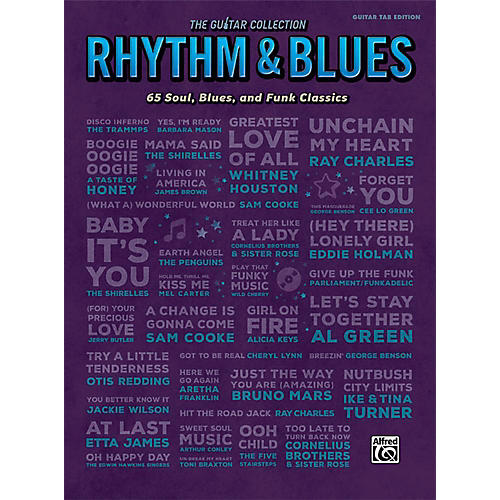 Alfred The Guitar Collection: Rhythm & Blues - Guitar TAB Edition Songbook-thumbnail